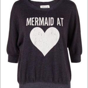 nwot billabong mermaid at heart pullover